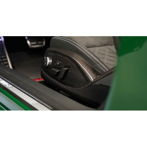 Molduras base asientos carbono ABT Audi RS4 Avant B9