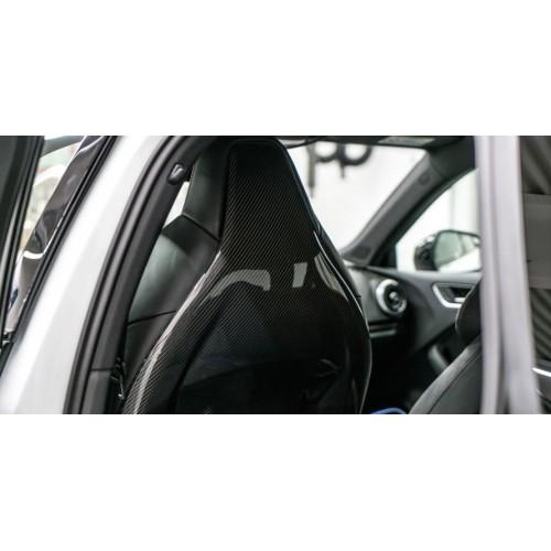 Molduras respaldo asientos carbono ABT Audi RS4 Avant B9